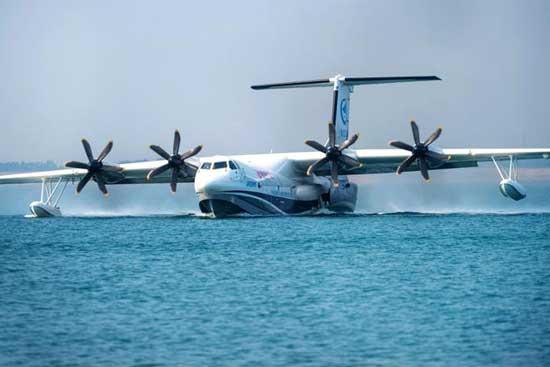 激光技术助我国首款大型水陆两栖飞机成功实现水上首飞
